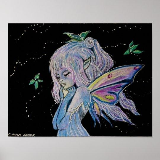 Night Watch Fairy by Carol Zeock Poster