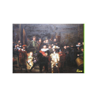 Night Watch - masterpiece painting reproduction Canvas Print