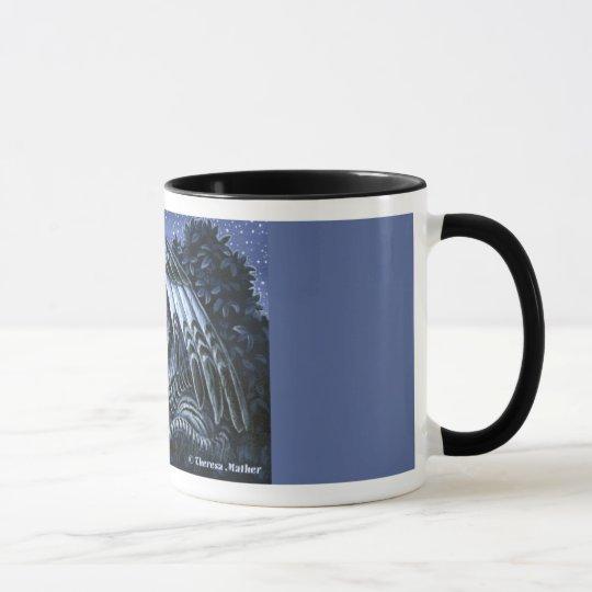 Night Watch Winged White Tiger Mug