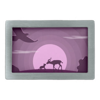 Night wild life belt buckle