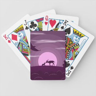 Night wild life bicycle playing cards
