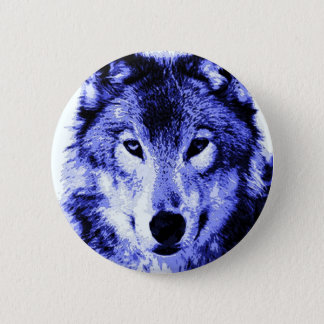 Night Wolf 6 Cm Round Badge