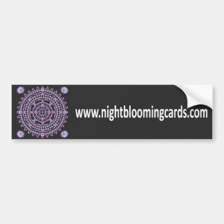 Nightblooming Cards Bumper Sticker
