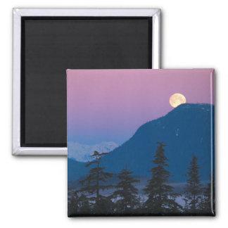 Nightfall in Alaska Square Magnet