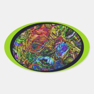 NightFires Oval Sticker