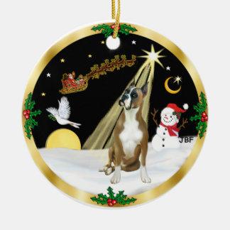 NightFlight-  Boxer Christmas Ornament