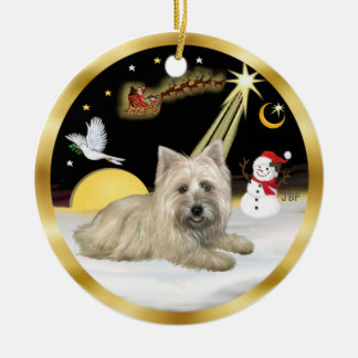NightFlight- Cairn Terrier Christmas Ornaments