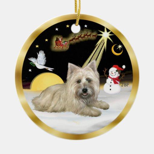 NightFlight-  Cairn Terrier Christmas Ornaments
