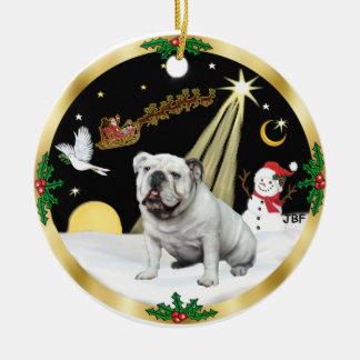 NightFlight-   English Bulldog Christmas Ornament