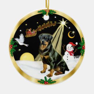 NightFlight-  Rottweiler Christmas Ornament