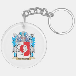 Nightingale Coat of Arms - Family Crest Double-Sided Round Acrylic Keychain