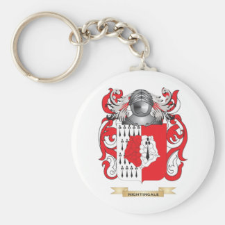 Nightingale Coat of Arms (Family Crest) Keychain