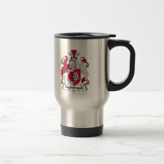 Nightingale Family Crest Travel Mug