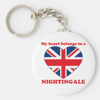 Nightingale Basic Round Button Key Ring