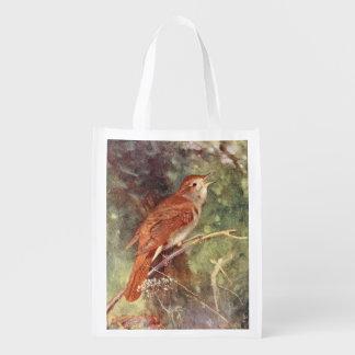 Nightingale Singing Reusable Grocery Bag