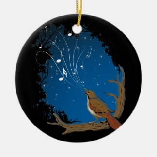 Nightingale Song Christmas Ornament