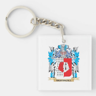 Nightingall Coat of Arms - Family Crest Single-Sided Square Acrylic Keychain