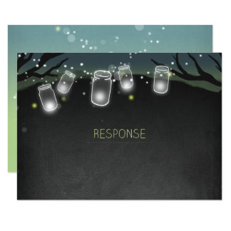 Nightlights (backyard wedding) RSVP Card
