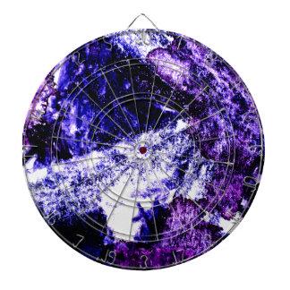 Nightmare abstract purple black design dartboard