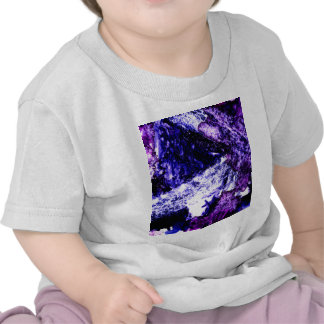 Nightmare abstract purple black design shirts