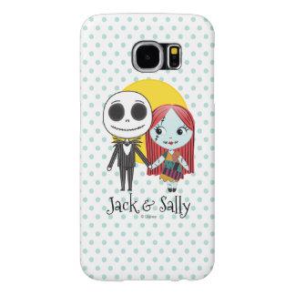 Nightmare Before Christmas | Jack & Sally Emoji Samsung Galaxy S6 Cases