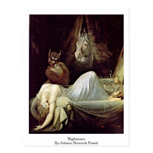 Nightmare By Johann Heinrich Fuseli Post Cards