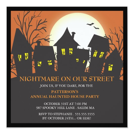 Nightmare Neighbourhood Halloween Party Invitation