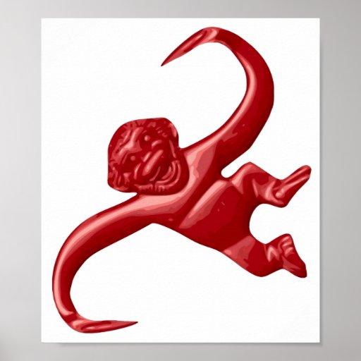 Nightmare Retro Toy Monkey Poster