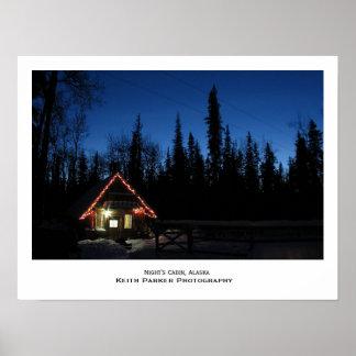Night's Cabin, Alaska Poster