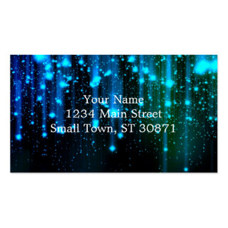 Nights Of Rain and Stars Meteor Shower Blue Pack Of Standard Business Cards