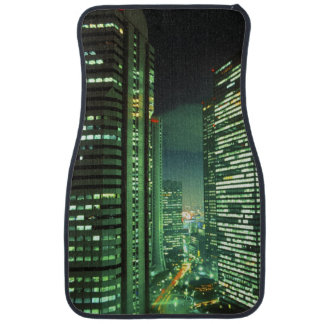 Nightscape, Shinjuku, Tokyo, Japan Floor Mat