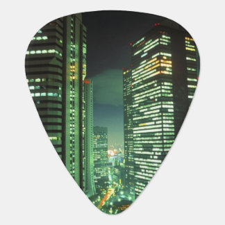 Nightscape, Shinjuku, Tokyo, Japan Guitar Pick