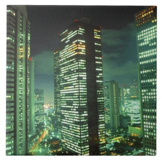 Nightscape, Shinjuku, Tokyo, Japan Tile