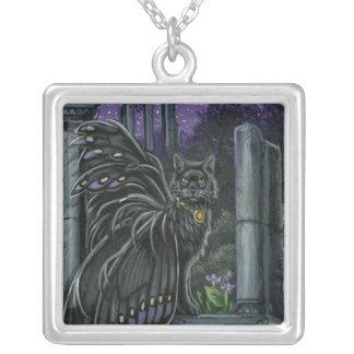 Nightshade Black Fairy Cat Necklace