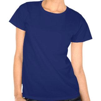 Nighttime Blue Happy Halloween Text Ladies T-Shirt