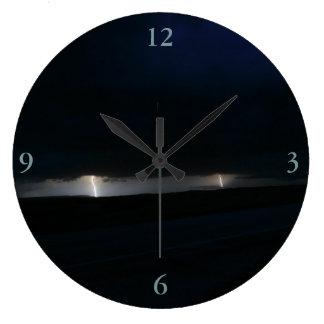 Nighttime Double Lightning Clock