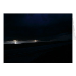 Nighttime Double Lightning Greeting Card