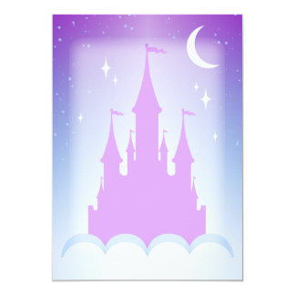 Nighttime Dreamy Castle In The Clouds Starry Sky 13 Cm X 18 Cm Invitation Card