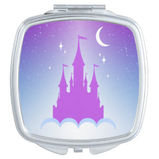 Nighttime Dreamy Castle In The Clouds Starry Sky Mirror For Makeup