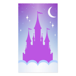 Nighttime Dreamy Castle In The Clouds Starry Sky Pack Of Standard Business Cards