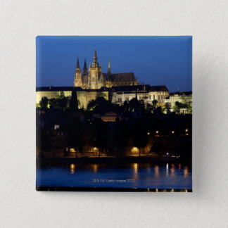Nighttime in Prague, Czech Republic 15 Cm Square Badge
