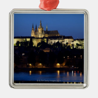 Nighttime in Prague, Czech Republic Christmas Ornament