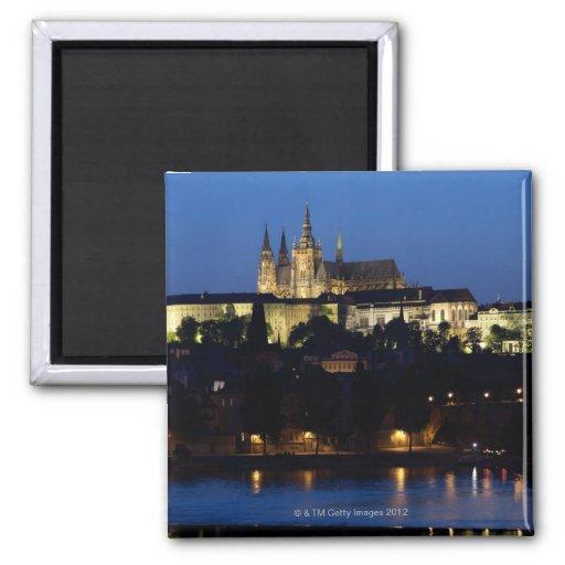 Nighttime in Prague, Czech Republic Magnets