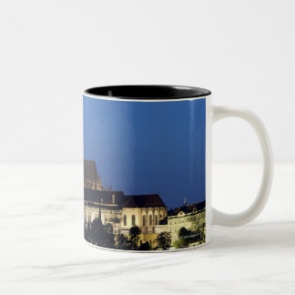 Nighttime in Prague, Czech Republic Two-Tone Coffee Mug