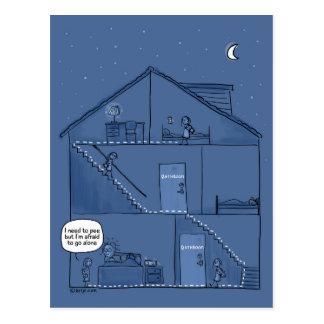 Nighttime Parenting Postcard