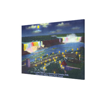 Nighttime View of Oakes Garden Theatre and Canvas Print