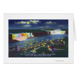 Nighttime View of Oakes Garden Theatre and Greeting Card