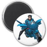 Nightwing on bike 6 cm round magnet