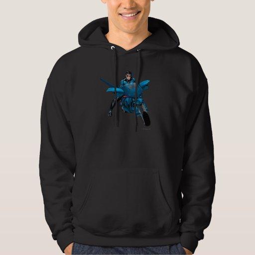 Nightwing on bike hoodie