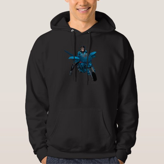 Nightwing on bike hoodie